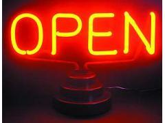 """Neonfigur """"Open"""" 230V, HxB: 20x24cm"""