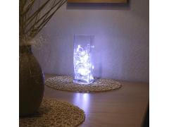 """Светеща ваза """"Вълна"""" с 32 бели LEDs"""
