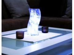 """Светеща ваза """"Cube"""" с 32 бели LEDs"""