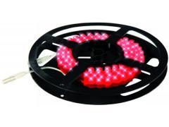 Силиконова LED лента, 96 светодиода, 1 м, червена