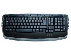 Мултимедийна клавиатура черено/сиво
